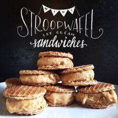 Mini Stroopwafel Ice Cream Sandwiches