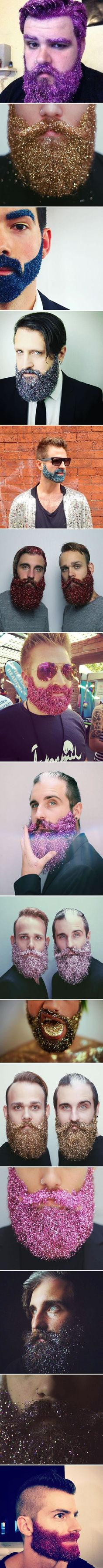 online store d1cb5 1fe5e Covering Their Beards In Glitter To Celebrate The Holidays httpibeebz.com