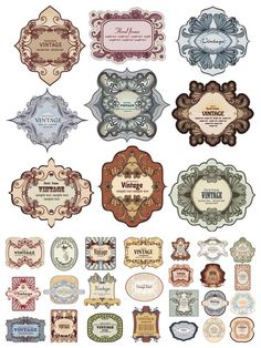 Loaded with all kinds of Vintage labels vector. Set of 33 vector vintage labels and floral frames, good for retro styled designs. Format: EPS stock vector clip art. Free for download.