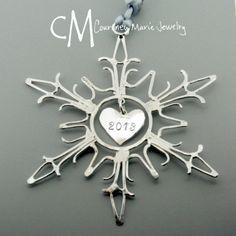 #sterlingsilver #handamade #snowflake #ornament by #CourtneyMarieJewely