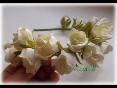 """МК Цветы из фоамирана.  """"Ободок с бутонными розами из фоамирана""""."""