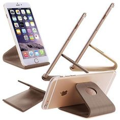 Universal Wood Desk Stand Holder Cradle for iPhone Samsung HTC Phone & Tablet