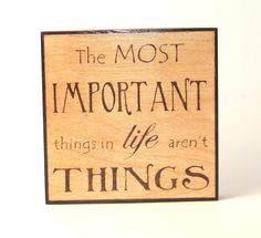 Life wall art  wood pyrography  Important things in by bkinspired, $37.00