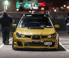 Subaru WRX #car #yellow
