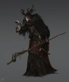 Young Corvian Witch, Igor Krstic on ArtStation at https://www.artstation.com/artwork/g3DRQ