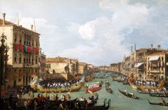Canaletto – The Bowes Museum 1982.32.2/B.M. Regatta on the Grand Canal (c. 1735)