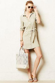 ANTHROPOLOGIE Cloth & Stone Hudson Shirtdress Various Sz NWT Moss Color #ByClothStone #ShirtDress