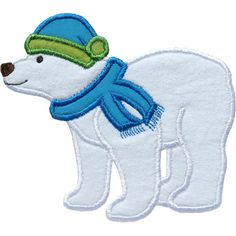 Winter Polar Bear Applique by HappyApplique.com