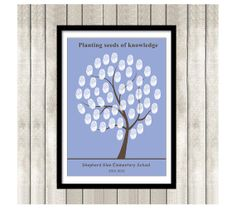 Teachers Fingerprint tree  Printable Thumbprint Tree by ByYolanda, €12.00