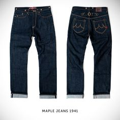 The £250 Maple '1941' motorcycle jeans: one of the favorites in Bike EXIF's gear guide to the best motorcycle jeans.