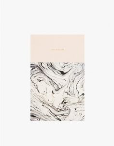 12 month weekly planner with large unlined spaces from Julia Kostreva for Need Supply Co. Features a marbled design printed on front and back mate covers, calendar month spreads, quick year overview and extra blank pages for notes. • Exclusive 12 mon