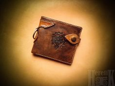 Leather classic bifold wallet by HeretikGifts on Etsy, $50.00