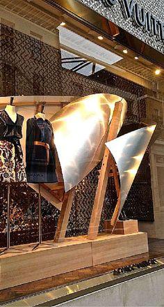Louis Vuitton retail window design Frank Gehry