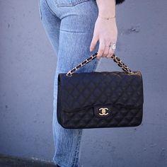 Chanel jumbo classic bag Covetandacquire.com