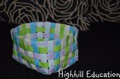 Rome Unit Study - Paper Basket Weaving Activity for Kids
