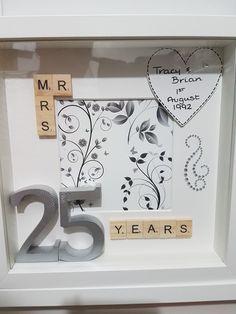 Silver wedding anniversary  box frame