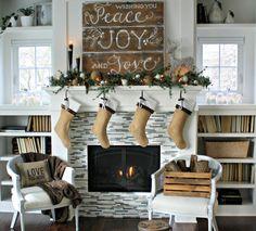 Favorite Fireplace mantles :: Christmas 2012