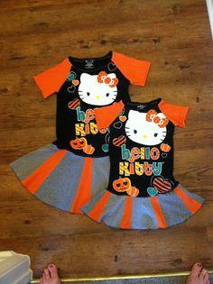 Custom hello kitty sisters tee dresses