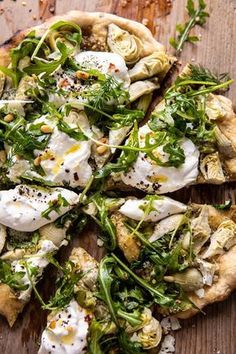 Artichoke Pesto and Burrata Pizza with Lemony Arugula. Artichoke Pesto and Burrata Pizza with Lemony Burrata Pizza, Burrata Cheese, Pesto Pizza, Pizza Pizza, Grilled Pizza, Vegetarian Recipes, Cooking Recipes, Healthy Recipes, Paleo Food