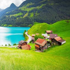 """""""Cute village of Lungern, Switzerland ●●●●●●●●●●●●●●●●●●●●●●●●●●●●●●●●●●●● The Lungern-Schönbüel area, with its fantastic views, is the starting point for…"""""""