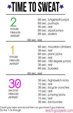 AMRAP Interval Workout
