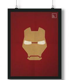 Pôster/Quadro minimalista Homem de Ferro