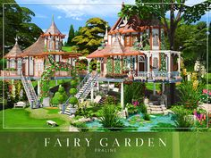 Fairy Garden by Cross Architecture from TSR for The Sims 4 Lotes The Sims 4, Sims Cc, Vampire House, Sims 4 House Design, Casas The Sims 4, Sims Building, Sims 4 Characters, Cool Tree Houses, The Sims 4 Download