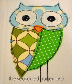 owls, owls for babies, owl pictures, baby owls, owls for babies Owl Embroidery, Freehand Machine Embroidery, Embroidery Designs, Free Motion Embroidery, Free Machine Embroidery, Free Motion Quilting, Baby Applique, Machine Applique, Applique Patterns
