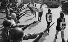 Civil Rights BW anarchy politics negro people evil police weons protest black white usa america