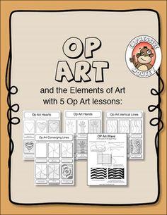 UPDATED!! OP ART AND THE ELEMENTS OF ART - TeachersPayTeachers.com