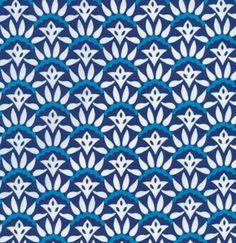 Darjeeling - Solaris in blue & white by Rosanna Bowles