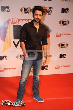 MTV Video Music Awards: Actor Jackky Bhagnani, whose film Rangrezz released on March 22, was casually dressed.