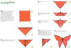 DIY BOUCLE D'oreille papillon origami | pour fabriquer un papillon de papier : on fait comme ça