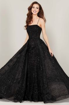 Tiffany Designs - 16339 Strapless Evening Gown with Overlay Ball Gowns Evening, Ball Gowns Prom, Ball Gown Dresses, Black Evening Gowns, Elegant Ball Gowns, Designer Evening Gowns, Flapper Dresses, Dresses For Balls, Designer Dresses