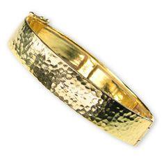 Hammered Flat Bangle Bracelet www.athenas-treasures.com