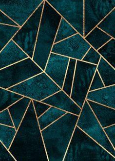 Deep Teal Stone Canvas Print by Elisabeth Fredriksson Framed Art Prints, Canvas Prints, Art Pierre, Illustrator, Deep Teal, Abstract Canvas, Abstract Lines, Canvas Art, Canvas Paintings