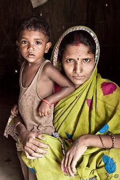 """Ful Patpasi and her daughter, Srijana, who are dalit (untouchable). Dalit, meaning """"oppressed"""" in South Asia, is the self-chosen political name of castes in the SAARC region which the varna system considers """"untouchable."""""""