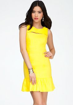 bebe | Front Cutout Linen Dress - View All