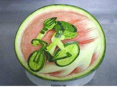 Die sportliche Wassermelone