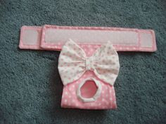 Pink and White Polka Dot Panty Dog Diaper Dog by CodysHaven