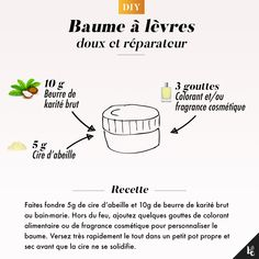 DIY : baume à lèvres réparateur - Skincare Products, Essential Skincare Homemade Skin Care, Diy Skin Care, Beauty Care Routine, Glow Up Tips, Beauty And The Best, Diy Lip Balm, Homemade Cosmetics, Lip Moisturizer, Healthy Skin Care