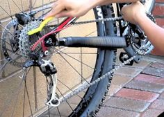 Keep your bike running smoothly for years with these basic maintenance tips and tricks. Read and Learn! Bike Stand Diy, Bike Style, Bike Run, Mountain Biking, Cycling, Tips, Bicycles, Lamborghini, Gym