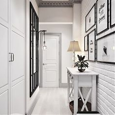 What color for a corridor? Home decor Ideas You are thinking of a makeover in your hallway, but you are not sure how to organize this space which is the business card of your apartment or your h. Home Decor Scandinavian Furniture, Scandinavian Home, Hallway Decorating, Entryway Decor, Decoration Hall, Flur Design, Appartement Design, Hallway Designs, House Entrance