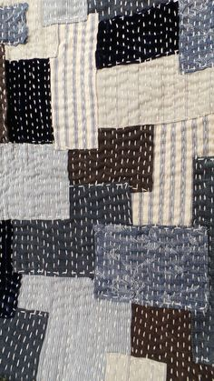 Sashiko - I find it very 'mindful' to stitch sashiko