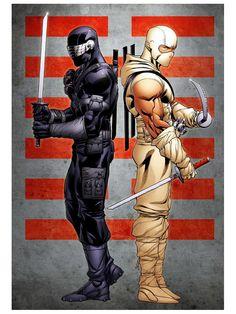 Snake Eyes Storm Shadow - G.I. Joe - Robert Atkins