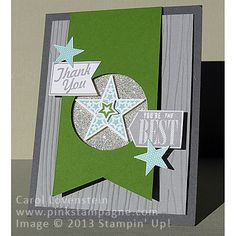 October Card Class (Part 3 of 5) Check out Pinkstampagne Post to see inside.  It's an easel card!