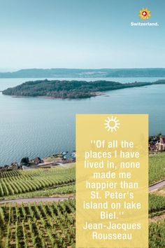 Switch off and relax on St. Peter's Island on Lake Biel.
