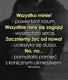 TeMysli inspirujące cytaty i złote myśli, przemyślenia i sentencje życiowe. Quotations, Qoutes, Nick Vujicic, Polish Language, Humor, Believe In You, Motto, Wise Words, Texts