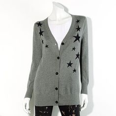 Gray Star Cardigan  Vera Wang Princess (Kohl's) $48.00