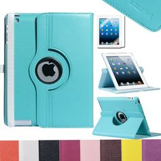 "$11 Pandamimi UlAK(TM) Magnetic 360 Rotating Smart Case Cover For ""The New iPad"" 4 /3rd Gen //iPad 2 Automatically Wakes and Puts the iPad 4 & 3 & 2 to Sleep+Stylus+Film (Aqua Blue) ULAK http://www.amazon.com/dp/B00FGRYNYG/ref=cm_sw_r_pi_dp_3GSoub03WCZBX"